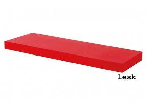 Nástěnná polička 60 cm P-001 RED - červená, vysoký lesk