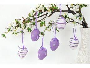 Vajíčko lila plastové VEL5038