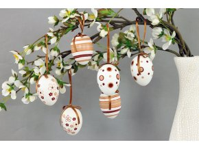 Vajíčka plastová béžovo-bílá VEL810207