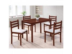 Stůl + 4 židle FARO lak třešeň