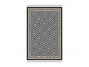 Koberec MOTIVE, 80x200 - černo-bílý vzor