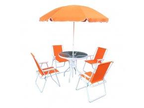 Zahradní set ODELO - oranžová / bílá
