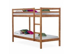 Patrová postel VERSO - borovicové dřevo/světle hnědá
