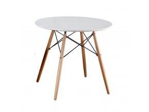 Jídelní stůl Gamin New 80 - bílá / buk