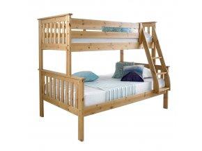 Patrová rozložitelná postel LUINI - přírodní