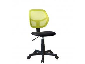 Otočná židle MESH - zelená / černá
