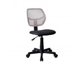 Otočná židle MESH, šedá / černá