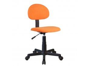 Dětská kancelářská židle SALIM - černá / oranžová