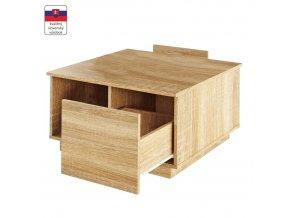 Konferenční stolek DALAN, dub sonoma