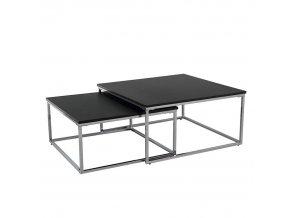 Set dvou konferenčních stolků AMIAS - černá/chrom