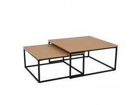 Set dvou konferenčních stolků KASTLER - buk/černá
