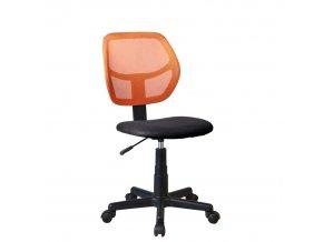 Otočná židle MESH - oranžová / černá