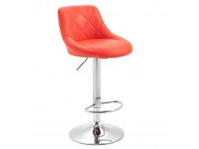 Barová židle MARID - červená / chromová
