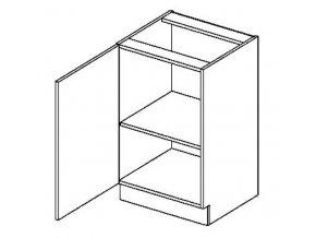 D50L dolní skříňka jednodvéřová PREMIUM de LUX olše