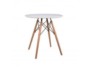Jídelní stůl Gamin NEW 60 - bílá / buk