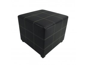 Taburet NELA NEW - černá textilní kůže