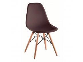 Židle CINKLA 3 NEW - tmavě hnědá / buk