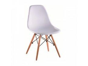 Židle CINKLA 3 NEW - bílá / buk
