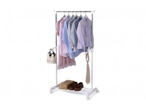 Stojan na šaty ABD-1212 WT - barva bílá / chrom