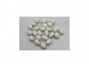 Vajíčka plastová bílá 4cm, 24 kusů VEL5045-WH