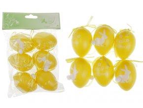 Vajíčka plastová žlutá, sada 6 kusů VEL5047-YEL