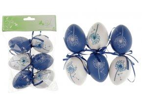Vajíčka plastová modrá a bílá, sada 6 kusů VEL5049-BLUE