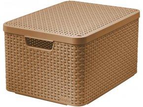 Box s víkem STYLE - L - mocha