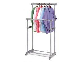 Stojan na šaty ABD-1233 GREY - šedá barva, kov / plast, chrom