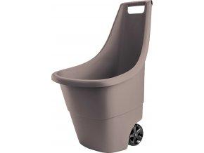 Plastový vozík EASY GO 50L - hnědý