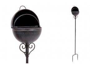 Popelník, kovová dekorace na zapíchnutí do zahrady UM0751