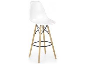 Barová židle H-51, bílá