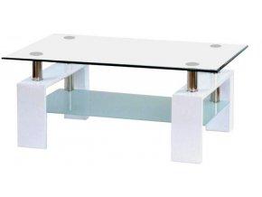 Konferenční stolek A 08-3 bílý/bílé horní sklo