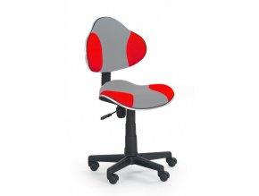Židle QZY-G2 šedo červená