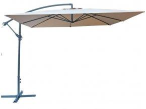 Slunečník kovový 8080 - 270 cm - béžový