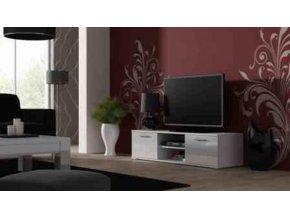 Televizní stolek SOHO 140 - bílá/bílá