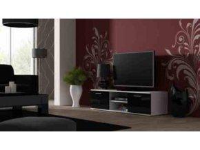Televizní stolek SOHO 140 - bílá/černá