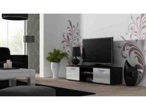 Televizní stolek SOHO 140 - černá/bílá