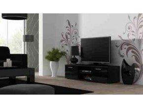 Televizní stolek SOHO 140 - černá/černá