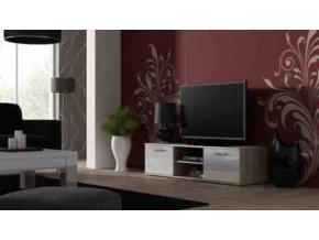 Televizní stolek SOHO 140 - dub Sonoma/bílá