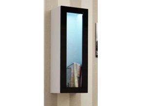 Vitrína VIGO, prosklené dveře - bílá/černá