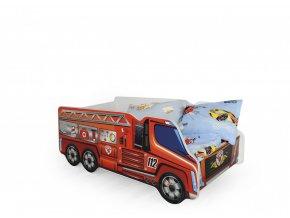 Dětská postel FIRE TRUCK (hasičské auto)