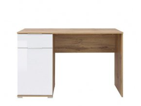Psací stůl Zele BIU/120 - dub wotan/bílý lesk