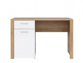 Psací stůl Balder BIU 120 - Dub riviéra/bílý lesk