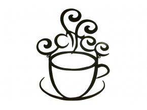 Nástěnná kovová dekorace káva HO4440