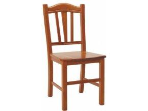 Dřevěná židle Silvana tmavě hnědá, masiv - II.jakost