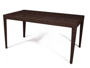 Zahradní jídelní stůl Dallas 150x80 cm - hnědý