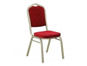 Židle ZINA 2 NEW - látka bordo / rám champagne