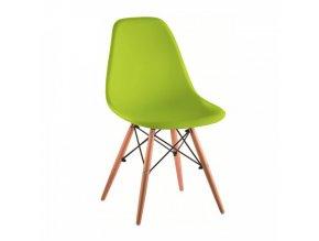 Židle CINKLA 3 NEW - zelená / buk
