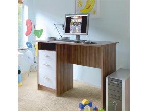 PC stůl SAMSON NEW - švestka bílá