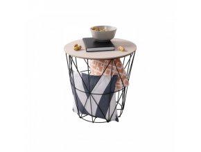 Příruční stolek NANCER TYP 2 - přírodní/černá